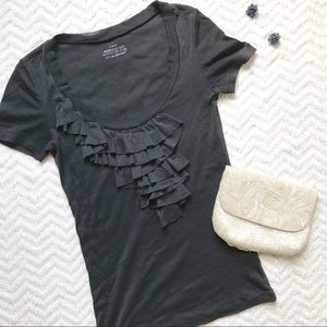 J. Crew Ruffle Cotton Tee